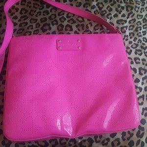 Kate Spade neon pink cross body purse.